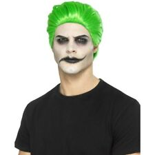 Men's Green JOKER SQUADRA suicida parrucca e vernice Halloween Fancy Dress Film Batman
