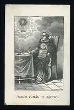 santino litografia 1800  S.TOMMASO D'AQUINO