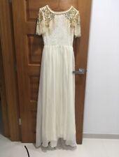 Virgos Lounge White Embellished Raina Maxi Dress size 8
