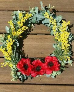 Artificial Australian Native Wreath Anzac memorial  30cm