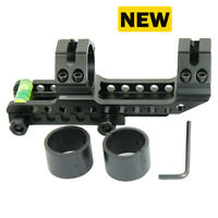 """Cantilever 1"""" to 30mm Rifle Scope Mount w/ Bubble Level for Picatinny Rails US"""