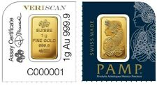1g Pamp Suisse Lady Fortuna Fine Gold Bar From Multipack
