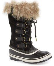 Women's SOREL 'Joan of Arctic' Waterproof Snow Boot Black/Stone SZ 7M