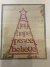 COUTURE Creations Vigilia di Natale albero di buona volontà Taglio Goffratura DIE