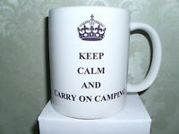 KEEP CALM AND CARRY ON CAMPING MUG CUP GIFT PRESENT IDEA