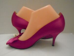 Kate Spade Womans Pink Bow Heels Size 7.5M