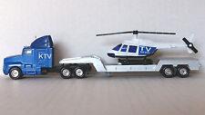 1/87 HO Maisto Die Cast KTV News Tractor Trailer 1990's