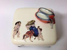 Korea Scenery Dano day Orgel Music Box Paperweight Ceramic Hand Craft Figure