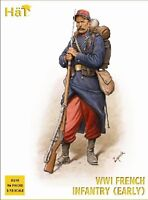 HAT 8148 WWI FRENCH INFANTRY EARLY 96 Unpainted Plastic Figures 1/72 FREE SHIP