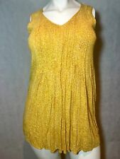 Old Navy Dress Size L Yellow Sleeveless Pleated Front EUC