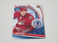 ANDY MIELE AUTOGRAPHED 2012 UPPER DECK NATIONAL HOCKEY CARD DAY CARD