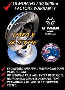 SLOTTED VMAXR fits SAAB 9-3 2.8L V6 Turbo 2005 Onwards REAR Disc Brake Rotors