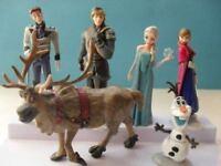 New 6 pcs Disney Frozen Cake Toppers Figures Anna Elsa Olaf Kristoff Hans Sven