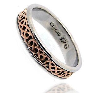 Clogau Silver Ring Size L Band Sterling Anniversary 925 Welsh Rose Gold Annwyl