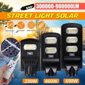 460/690W Solar Street Light Motion Sensor Outdoor Garden Yard Wall