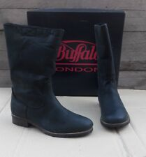 Buffalo London Damen Stiefel Schwarz 41 Winterschuhe gefüttert