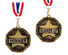 Winner or Runner Up medal and ribbon trophies any sport trophy