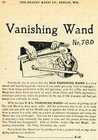 1924 small Print Ad of P&L Vanishing Wand looks like real magic