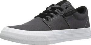 Supra Stacks Vulc II 2 HF Charcoal/White Mens Skater Trainers Shoes