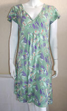 Debenhams Mantaray Green African Tulip Print Cap Sleeve Dress Size 12 New