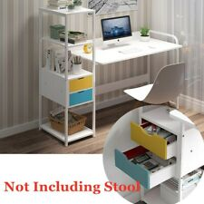 Stylish Computer Desk PC Laptop Table Metal Home Office Study Workstation Shelf