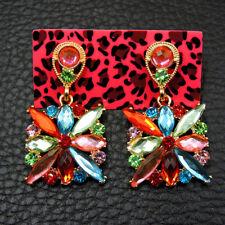 Betsey Johnson Fashion Jewelry Delicate Shining Crystal Dangle Earrings