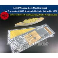1/350 Wooden Deck Masking Sheet for Trumpeter 05355 Schleswig Holstein 1908