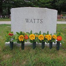 "Evelots Set Of 6 Cemetery Grave Patriotic Memorial Veterans Flower Cone Vases 7"""