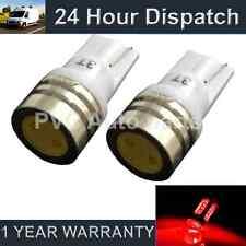 2x W5W T10 501 Xenon Rosso High Power LED INTERNI CORTESIA LAMPADINE il100701
