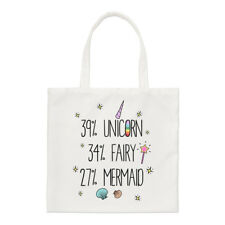 39% Unicorno Fata 34% 27% SIRENA Small Tote Bag-Divertente spalla
