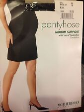 Exciting! Vintage Motherhood black pantyhose size m