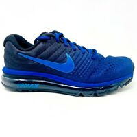 Nike Air Max 2017 Royal Blue Hyper Cobalt Mens Size 8.5 Running 849559 401
