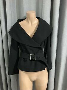 Zara Black Cape Jacket Size Medium M New With Tags