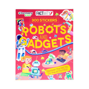Factivity Robots and Gadgets Activities Book Sticker Kids Book