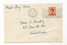 GB QEII First day cover 9th Feb 1959, 4 1/2d Chestnut Wimbledon postmark