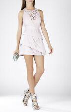 BCBG MAX AZRIA Hanah Off-White Lace Tiered Skirt Mini Dress sz 8 NWT $398