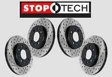 [FRONT + REAR SET] STOPTECH Drilled Slotted Brake Rotors EVO X w/BREMBO STS57804