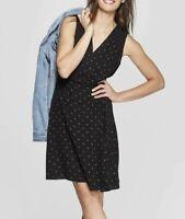 Women's Floral Print V-Neck Wrap Dress - Universal Thread™  Red M & Black L