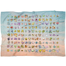 Original 151 Pokemon Fleece Throw Blanket