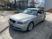 2003 BMW 530i SE PETROL AUTO SILVER BLACK LEATHERS **LOW MILES/LONG MOT**