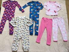 3 One-Piece Pajamas, 1 Two-Piece Pajamas w/ 2 Pajama Pants, Sz 3T, Gap, Disney