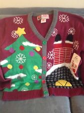Womens Ugly Great Christmas Sweater Vest Size 2x Extra Large