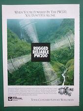 5/1993 PUB PRATT & WHITNEY CANADA PW 200 TURBINE HELICOPTER ORIGINAL AD
