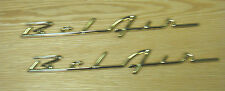 1957 CHEVY GOLD BELAIR SCRIPTS , NEW   pair  ** USA MADE **