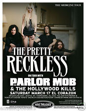 """THE PRETTY RECKLESS / PARLOR MOB """"THE MEDICINE TOUR"""" 2012 SEATTLE CONCERT POSTER"""