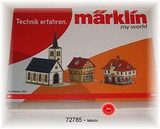 """Märklin 72785 Bausatz-Paket """"Dorf""""  #NEU in OVP#"""
