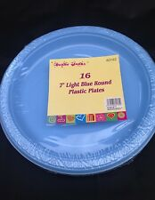 32x  light blue   disposible plastic plate  18 cm  for all occasion