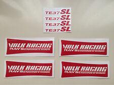TE37 SL Sticker Volk racing Red Color Decals 1 set of 4