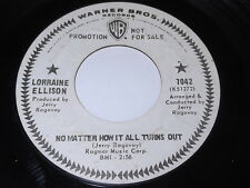 Lorraine Ellison: No Matter How It All Turns Out / He's My Guy 45 - Soul