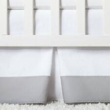 Cloud Island Gray Pleasted Crib Bedskirt Nip